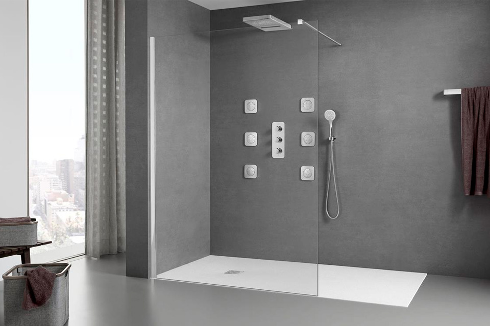 Exposición de tipos de ducha en Madrid